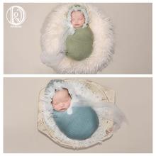 Don&Judy Cute Newborn Photography Props Hat Bonnet Infant Photo Prop Mesh Lacework Cap Fotografia Baby Accessories