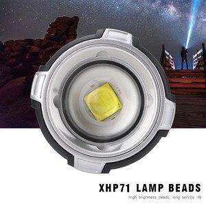 Image 3 - Linterna frontal LED XHP  P71 recargable por USB, superbrillante, con ZOOM, para pesca
