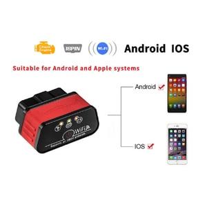 Image 4 - ELM327 WIFI skaner diagnostyczny samochodów Automotivo ODB 2 autoscankw903 ELM 327 Wi fi OBD2 Adapter Bluetooth dla Iphone Android