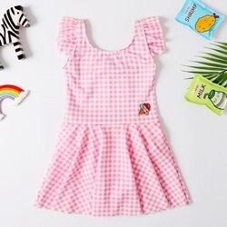 2020 Nova Baby Girl Swimsuit Menina 2-8 Anos de Idade As Crianças Um Pedaço Swimwear Saia Bonita Vestido de Banho Clássico terno