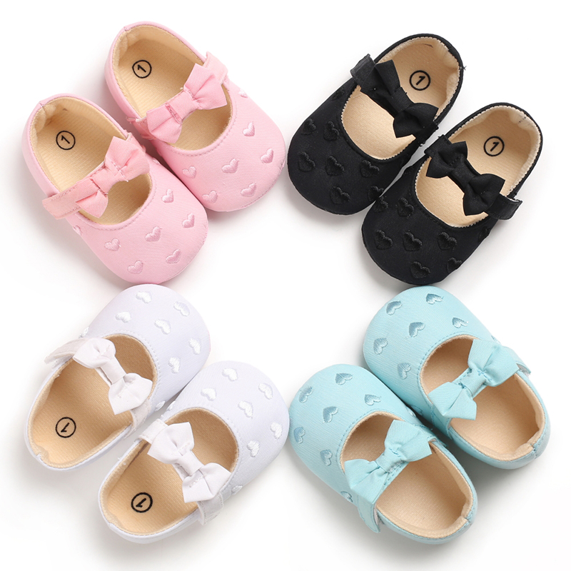 Baby Shoes Cute Bowknot Newborn Shoes Soft Bottom Anti Slip Toddler Girls Princess Shoes Infant Shoes Girls First Walkers