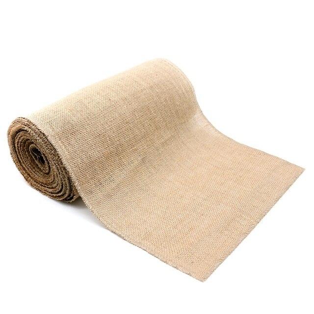 10M x 30cm Hessian Roll Table Runners Jute Fabric Burlap Christmas 4 Patterns
