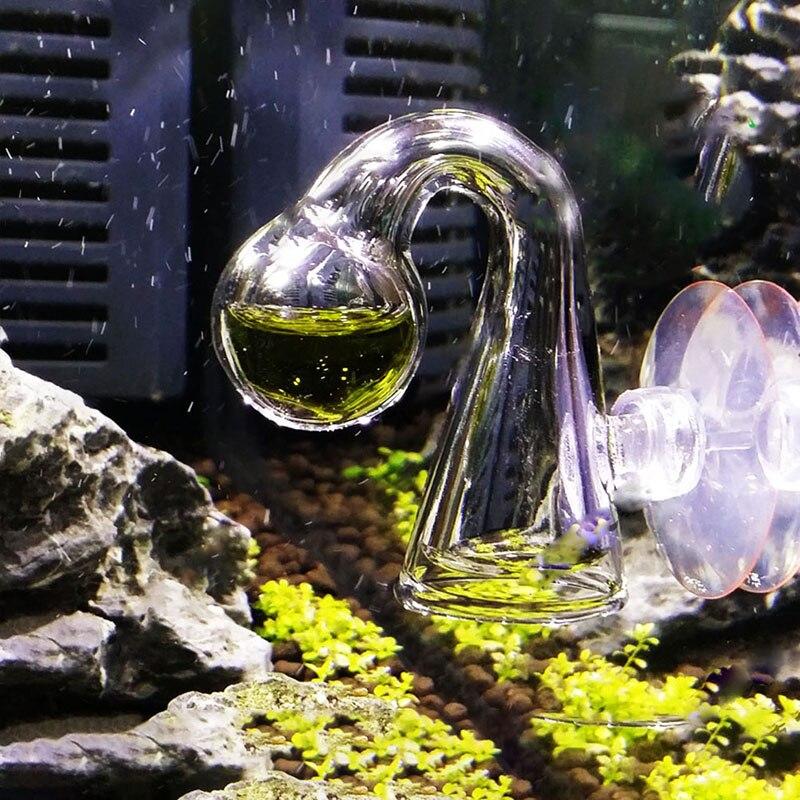 Glass CO2 Drop Checker Carbon Dioxide PH Ball Long Term Indicator Monitor Tester Fish Tank Water Live Moss Plant Aquarium Notes