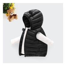 Детское зимнее пальто; светильник с капюшоном; однотонная хлопковая верхняя одежда; детский жилет; зимняя одежда для мальчиков