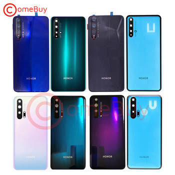 For Huawei Honor 20 Pro Back Battery Cover Glass Door Honor 10i 20i Rear Housing Case Honor 20S Battery Cover+Camera Lens original rear camera lens for huawei honor 20 pro camera glass lens back camera frame for honor 20 10i 20i camera lens frame