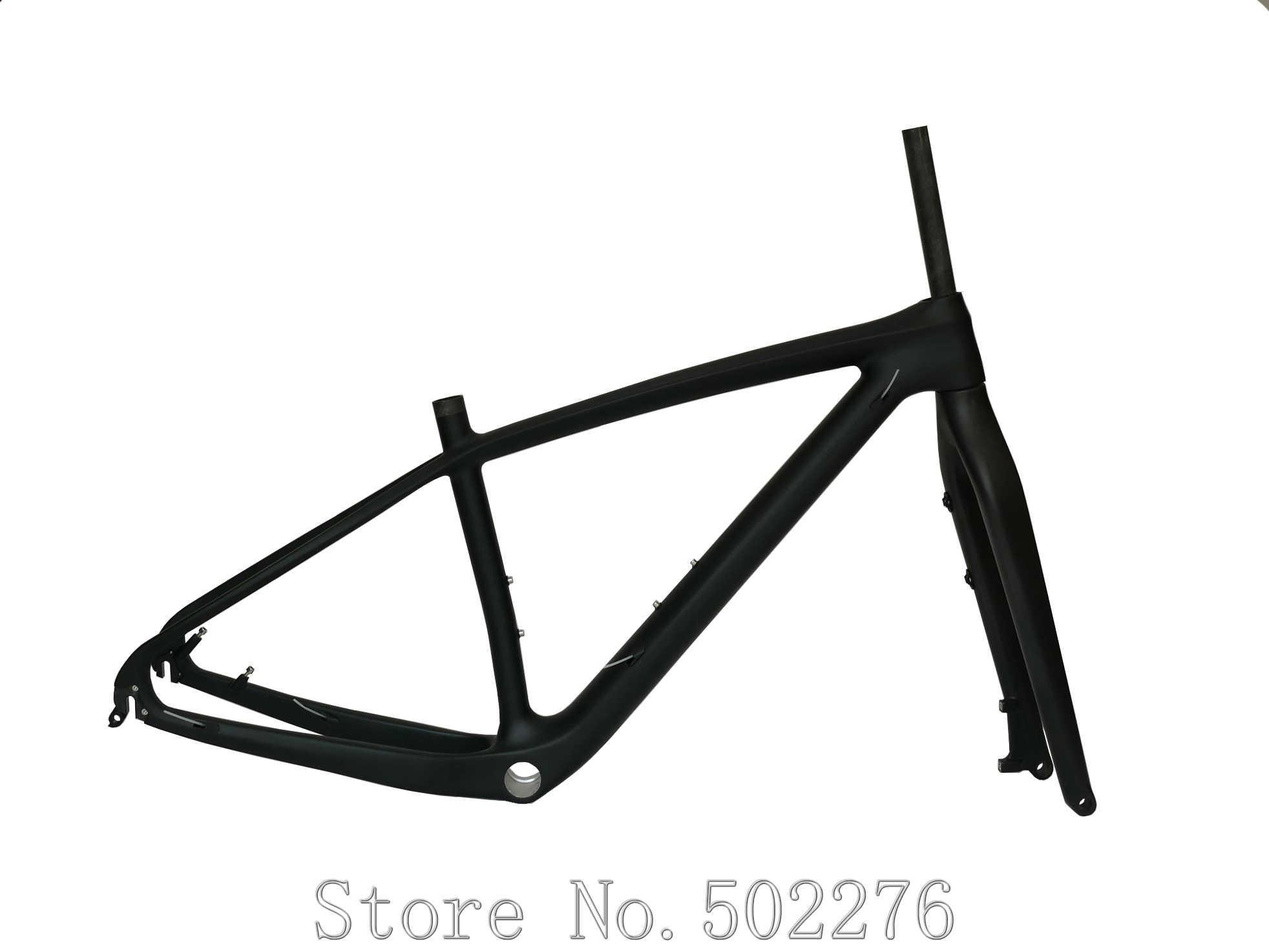 """Haute qualité 29er vtt pleine Fiber de carbone VTT vélo 29ER cadre 15.5 """"à travers l'essieu 142*12mm + fourche 15*100mm essieu"""