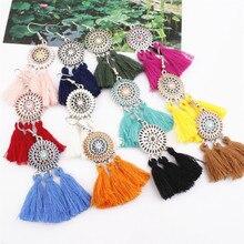 New Hot Promotion Womens Earring Exaggerate Sun Flower Long Tassel Earrings For Women Jewelry Female Pendientes Brincos