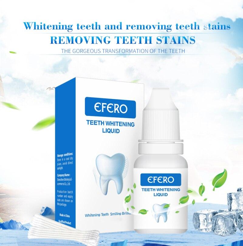 EFERO отбеливание зубов пудра с эссенцией гигиены полости рта Чистящая сыворотка удаляет зубные пятна Отбеливание зубов стоматологические и...