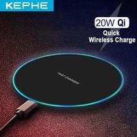 20W Veloce Caricabatterie Wireless Per Il Samsung Galaxy S9/S20 S8 Nota 9 USB Qi Pad di Ricarica per iPhone 12 11 XS Max XR X 8 Huawei P30 Pro