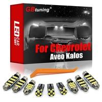 GBtuning Canbus LED 6 uds para Chevrolet Aveo Kalos T200 T250 T255 2008-2011 coche Domo Interior lámpara luz Interior Kit de accesorios