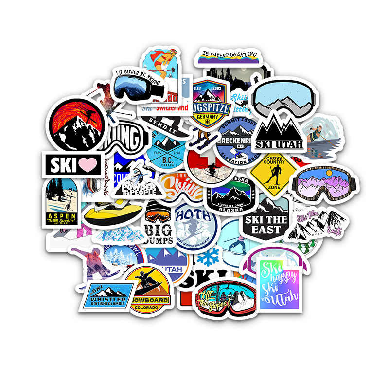 50 PCS sport Estremi Adesivi Sci Ciclismo Fresco Outdoor Adventure Decalcomanie Arrampicata borsa Da Viaggio di Skateboard Impermeabile Toy Sticker