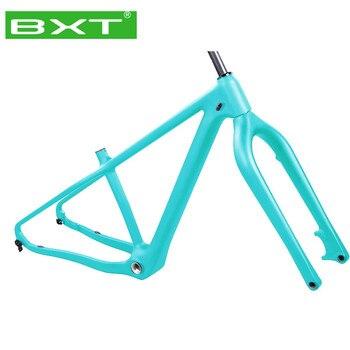 Marco de bicicleta BXT Fat con horquilla T800 peso ligero de carbono Marco de bicicleta de nieve de montaña cuadro de bicicleta de carretera Marco de tubo cónico