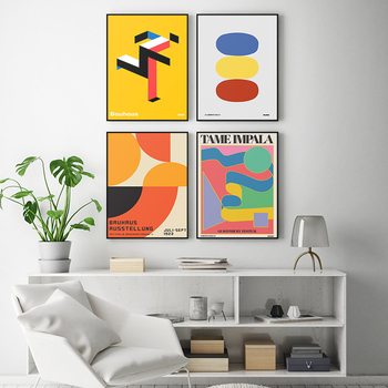 Tame Impala At Glastonbury Gig Poster Vintage Colorful Canvas Painting Retro Wall Pictures For Living Room Home Decor No Frame image