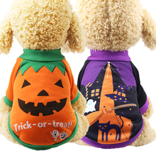 Christmas Pet Clothes witch pattern for Dogs Winter Dog Costume Halloween Cat Clothing