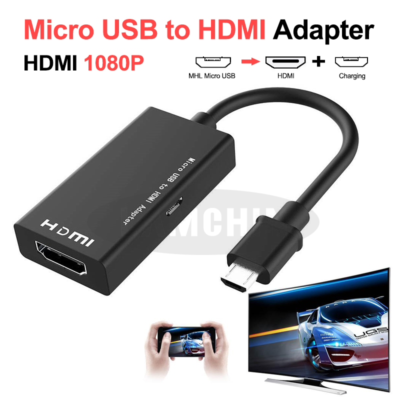 Micro USB To HDMI Converter For Android Smartphone Flat Panel TV HDMI 1080P HD Audio Micro USB To HDMI Converter Adapter