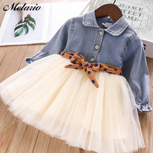 Melario Fashion Leopard Girls Dresses Autumn With belt Kids Dress Children Clothing Princess Dress Casual Kids Girls Clothes(China)
