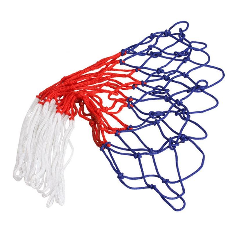 Спорт на открытом воздухе баскетбольная сетка Стандартный нейлоновой нитью баскетбольное кольцо сетка обод щита мяч туфли-лодочки 12 петел...