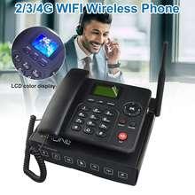 4G Wireless Fixed Phone Desktop Telephone WIFI GSM SIM Card LCD for Office Home Call Center Company Hotel EU/US/UK/AU Plug