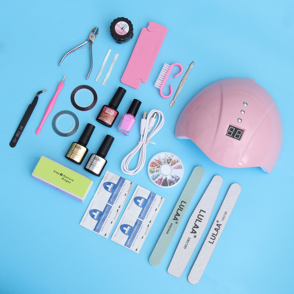 1 Set Portable Nail Phototherapy Machine Set Nail Art Tools Set Nail Art Accessories Supplies for Women Female