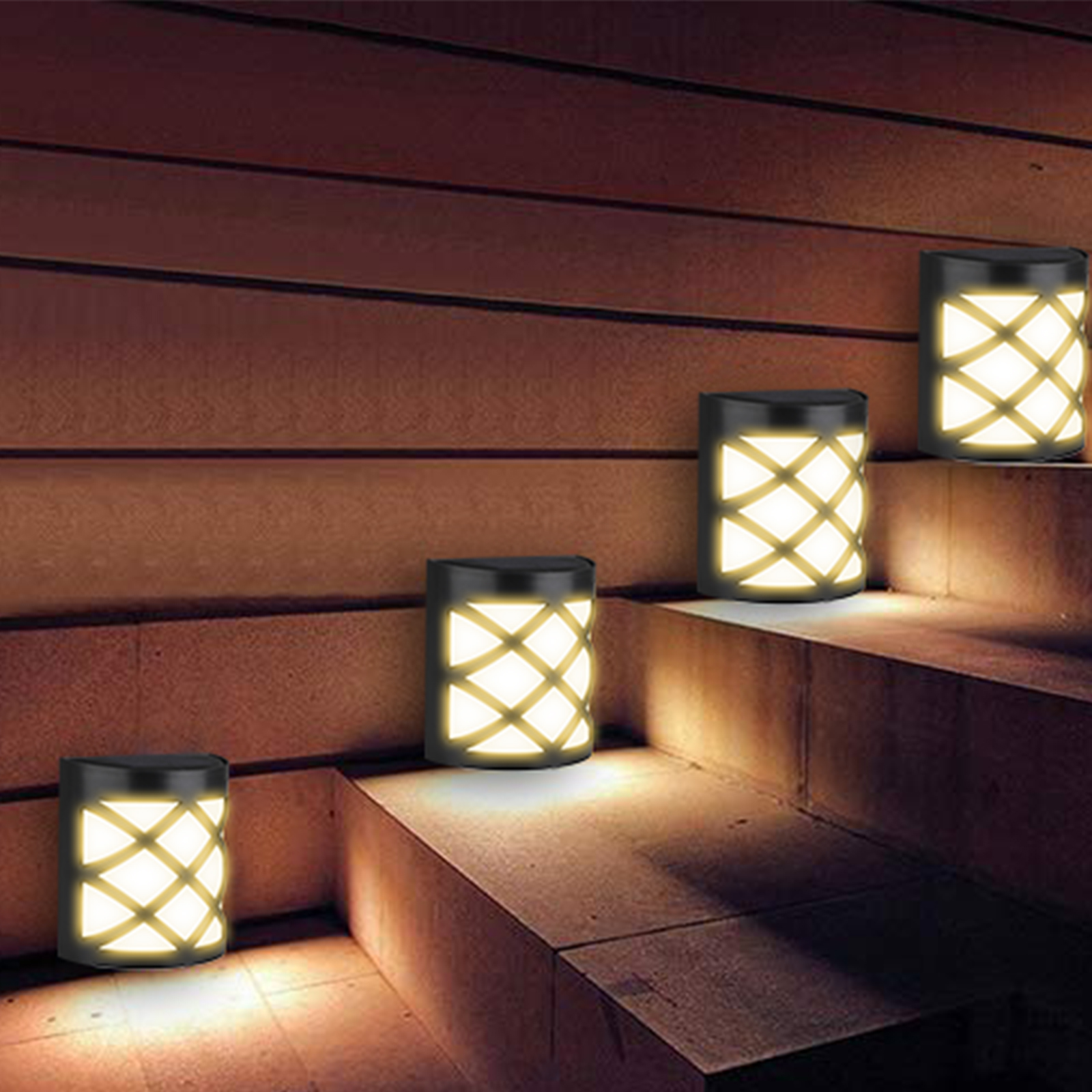 2019 New Solar Light IP65 Waterproof 6 LED PIR Motion Sensor Wall Light Outdoor Sunlight powered lamp for Garden Yard Decoration