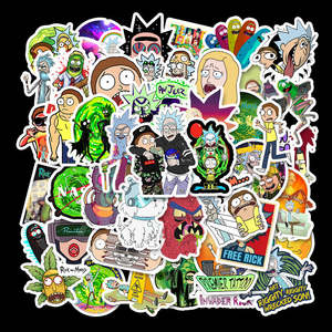 Morty Stickers Decal Laptop Drama Pegatina Rick Home-Decor Snowboard Styling Luggage