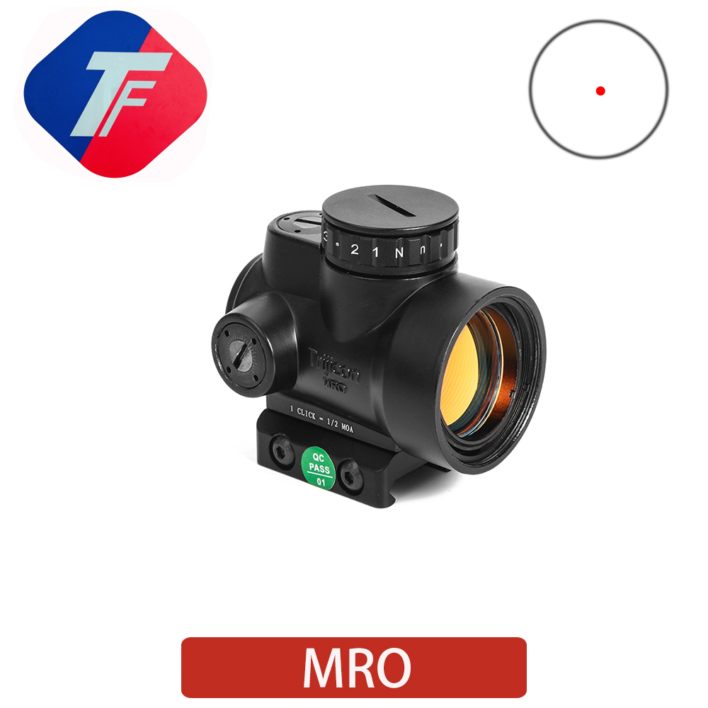 MRO Red Dot Sight Hunting Range Built-in Adjustable Holographic Sight Tactical Optical Sight Hunting Airsoft  20mm Rail Mount