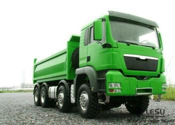 LESU 1/14 MAN 8*8 Hydraulic RC Dumper Truck Painted Green Model With Sound Motor ESC Servo Radio Control THZH0351