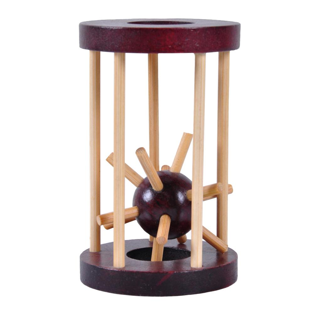 Take Thorn From The Cage IQ Brain Teaser Logic Adult Kids Wooden Puzzle Toy