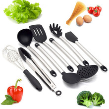 8PCs / Set Kitchen Cooking Utensils Nonstick Non-Stick Heat Resistance Silicone Utensil Dining Tools Kits