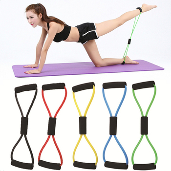Sports Elastic Band Yoga Resistance Bands Fitness Equipment Exercise Puller 8-shaped Chest Expander for Body Building Home Gym image