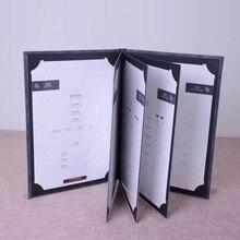 Искусственная кожа вкладыш твердый переплет меню рецепт изготовление прайс-лист вставка обложка книга рецептов на заказ Печать винная карта