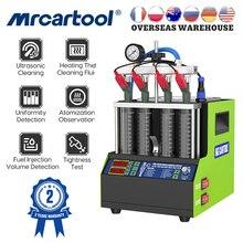 MRCARTOOL 110V/220V Auto Kraftstoff Injektor Tester Reinigung Maschine V308 Ultraschall Düse Reiniger Tester Für Motorrad 4 zylinder