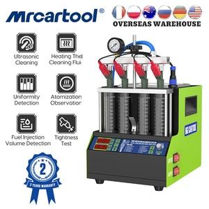 Image 1 - MRCARTOOL 110V/220V Auto Kraftstoff Injektor Tester Reinigung Maschine V308 Ultraschall Düse Reiniger Tester Für Motorrad 4 zylinder