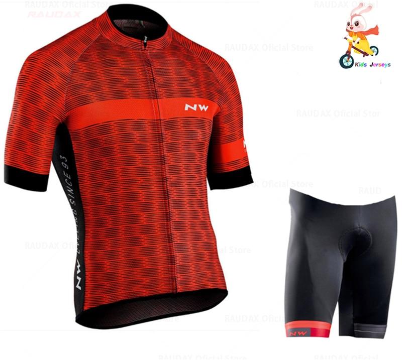 Northwave Cycling Clothing 2020 Pro Team Nw Boys Jerseys Mtb Short Sleeve Jerseys Cycling Clothing Kids Bike Clothing Shirt Set|Cycling Sets| |  - title=