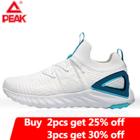 PEAK TAICHI Male Running Shoes Fashion Lightweight Adaptive Shock absorbing Sneakers Breathable Soft Sole Women Tennis Shoes