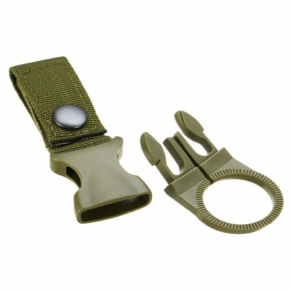 Купить с кэшбэком Backpack Hanger Hook molle attach Buckle Holder tool hike outdoor Quickdraw webbing camp Carabiner Water Bottle clip hanger D40