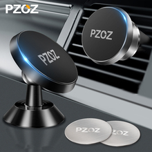 PZOZ Magnetic car phone holder Air Vent Mount Magnetic Holder for phone in car Universal stand CellPhone car for iphone holder universal car swivel air vent mount holder for gps cellphone black