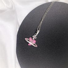 2021 Fashion Classic Retro Simple Shiny New Personality Love Necklace Saturn Pendant Necklace for Women Gothic Love Necklace