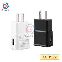 Adaptateur de prise US 5V 2A, chargeur mural USB blanc noir, Charge rapide, adaptateur d'alimentation de voyage pour Smartphone, entrée 100-240V 0,35 a