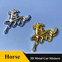 1Pcs 3D Metal horse Pegasus Car Rear Trunk Fender Badge Emblem Sticker for Dodge Ford Mustang Jeep Car Accessories qhcp car styling abs letter sticker rear trunk decklid badge emblem stickers decoration fit for ford mustang 2015 2016 2017 2018