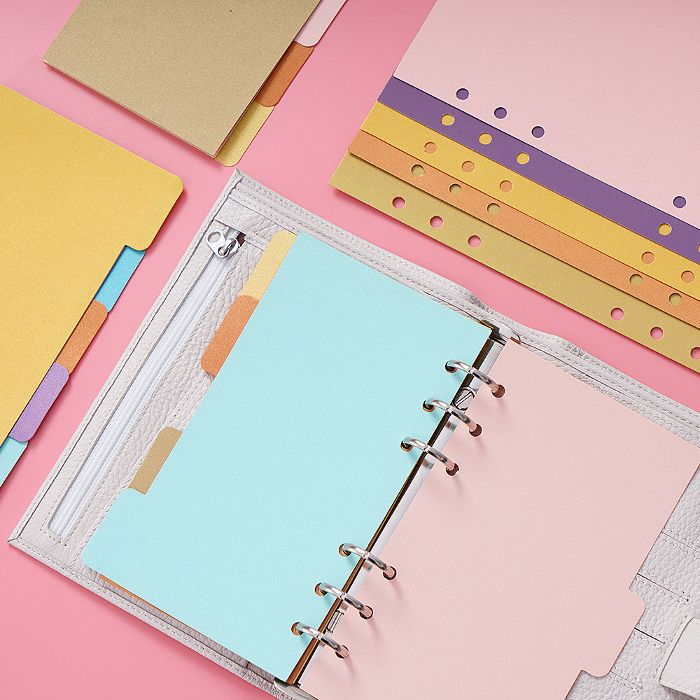 5 Pcs/set Binder Index Dividers A5 A6 Size Notebook Inner Pages Separator Diary Planner Paper Category Pages Stationery