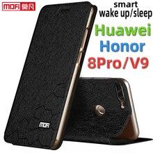 flip case for huawei honor 8 pro case honor v9 cover leather silicon book kickstand funda luxury glitter capa mofi honor v9 case