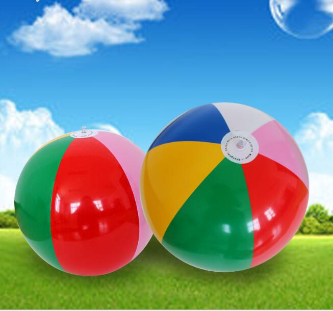 MeterMall 40cm PVC Rainbow Color Party Inflatable Beach Balls Beach Pool Party Toys
