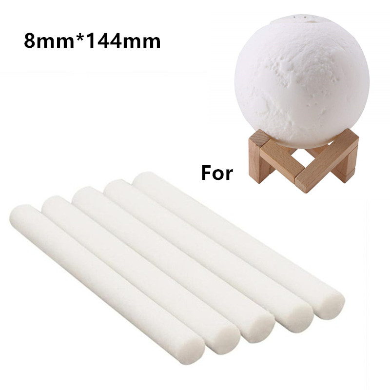 10 Pieces 8mm* 144mm Humidifiers Filters Cotton Swab For USB Air Ultrasonic Humidifier Aroma Diffuser Replace Parts Can Be Cut