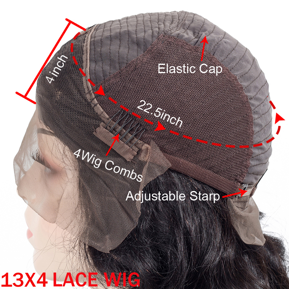 Image 2 - 13x4 Lace Front Human Hair Wigs Pre Plucked Hairline Baby Hair Brazilian Straight Lace Front Wigs Bleached Knots Remy QT Hair-in Human Hair Lace Wigs from Hair Extensions & Wigs
