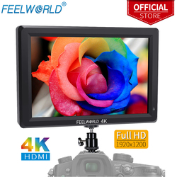 FEELWORLD T756 7 Inch 1920x1200 IPS On Camera Field Monitor Support 4K HDMI Input Outputwith Light Sensor