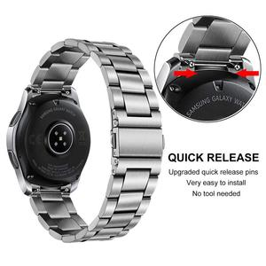 Image 3 - Unique Stainless Steel Watchband + No Gap Clips for Samsung Galaxy Watch 46mm SM R800 Hand Detach Band Quick release Strap Belt