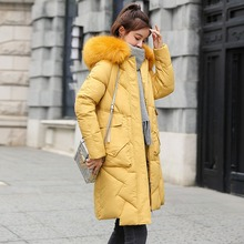 Parka Women Winter Coats Long Cotton Casual Fur Hooded Jackets Women Thick Warm Winter Parkas Female Overcoat Coat 2019 snow wear large fur collar coat women parka long 2017 winter parkas female thick warm ladies jackets and coats outerwear brown z