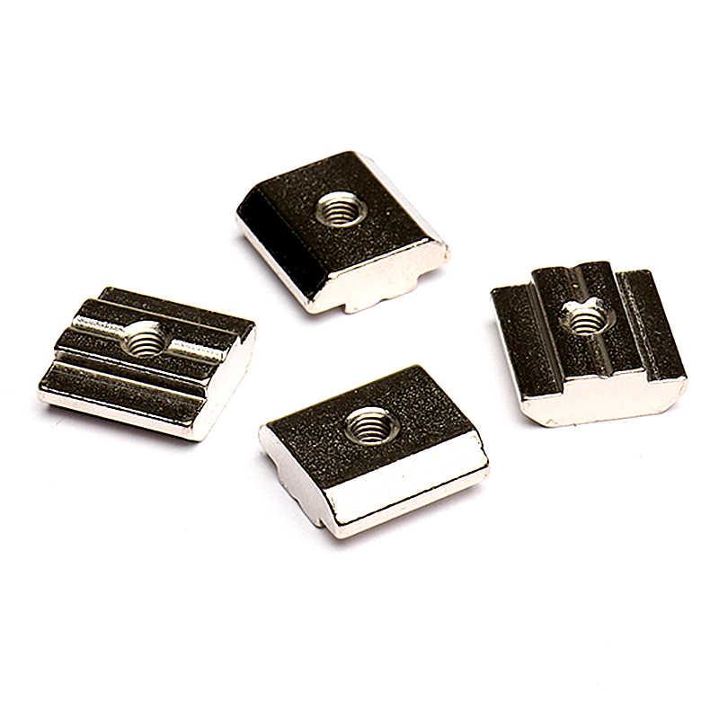 5-30 قطعة/الحقيبة T كتلة مربع المكسرات T-المسار انزلاق مطرقة الجوز M3 M4 M5 M6 للألومنيوم الملف 20*20 30*30 40*40
