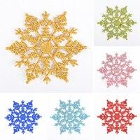 Copos de nieve para Navidad, copos de nieve para cumpleaños, fiestas, adornos de Navidad para el hogar, manualidades de Navidad, 6 uds., 10cm